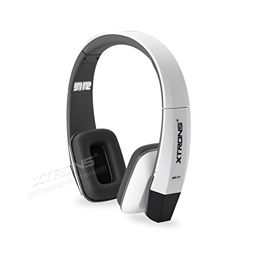 XTRONS White IR Wireless Dual Channels Infrared Stereo Cordless Headphones 2 Channels for Children Kids ()