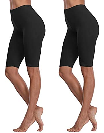 8ca8daa6799b82 VOGUEMAX Women's Short Leggings Stretchy Mid Tight Leggings Lightweight for  Under Dresses/Skirts, Regular