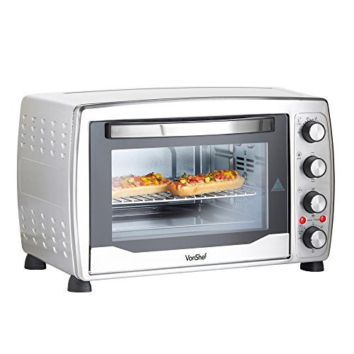 vonshef large 31qt 36l convection countertop toaster mini oven grill rotisserie includes. Black Bedroom Furniture Sets. Home Design Ideas