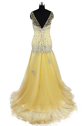 charmingbridal - Robe - Trapèze - Femme -  jaune - 46