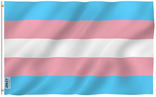Anley Fly Breeze 3x5 Foot Transgender Flag - Vivid Color and