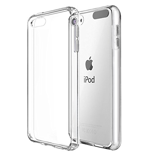 Ailun Phone Case for iPod Touch 7 Touch 6 Touch 5 Soft Bumper TPU Clear Case Slim Lightweight Compatible with iPod Touch 7G 2019 Released 6G 2015 Released 5G Crystal Clear (Case Camera Touch Ipod 5g No)