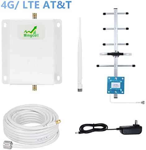 WA70-QP9 Cell Phone Signal Booster Amplifier Repeater Mingvoll AT/&T T-Mobile 700MHz Band 12//17 4G LTE Cell Phone Booster Mobile Signal Booster with Indoor Whip//Outdoot Yagi Antenna