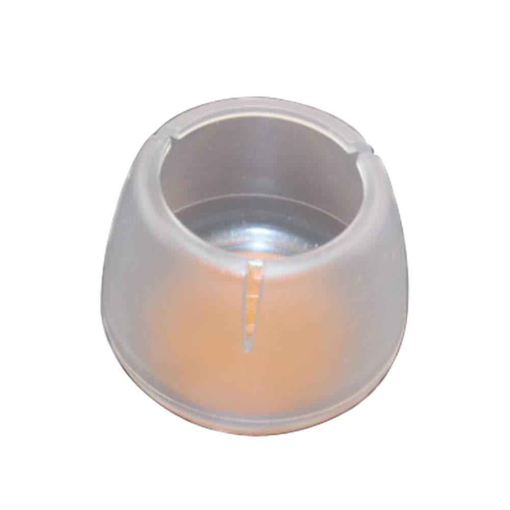 Rocita Stuhlbeinkappen, rund, mit Filzpolster, Tischfüße, transparent, 4 Stück (#2 für 31-41 mm Beine)