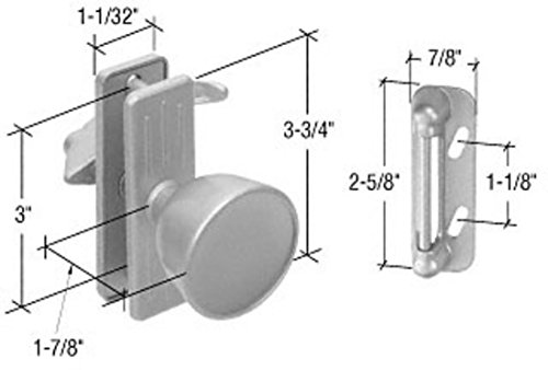 Aluminum Screen and Storm Door Knob Latch 3'' Screw Holes by C.R. Laurence (Image #1)