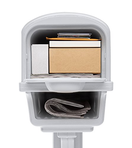 Gibraltar Mailboxes Gentry Large Capacity Double-Walled Plastic White, All-In-One Mailbox & Post Combo Kit, GGC1W0000 by Gibraltar Mailboxes (Image #2)