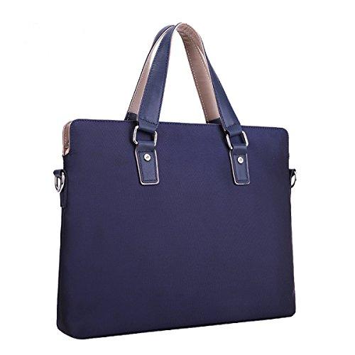 Männer Tragbare Lässig Retro Querschnitt Business Dokumente Computer Schulter- Messenger Tasche Blue