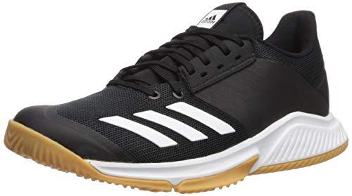 adidas Women's Crazyflight Team Volleyball Shoe, Black/White/Gum, 10 M US