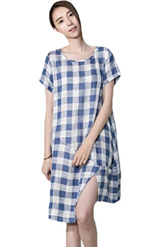 Voguees - Vestido - suéter - para mujer Azul