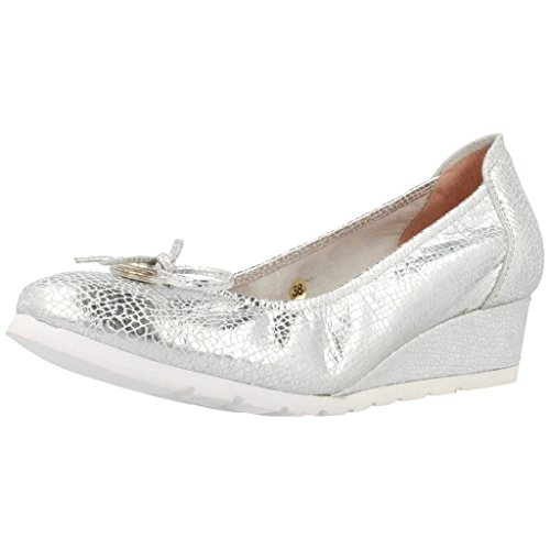 sabrinas Zapatos Bailarina Para Mujer, Color Plateado, Marca, Modelo Zapatos Bailarina Para Mujer U Snake Moc A Plateado Plateado