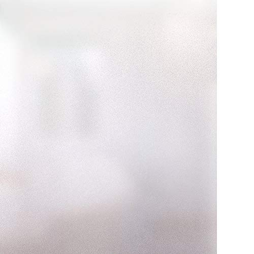 Easy Block Pattern (RABBITGOO Privacy Window Film Frosted Film 17.7 By 78.7 Inch No Glue Anti-UV Window Sticker White Frosted Window Cling Non-Adhesive For Privacy Office Meeting Room Bathroom, Bedroom, Living Room)