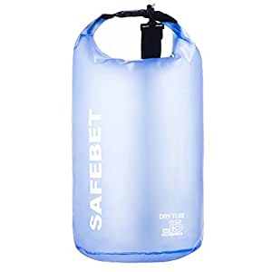 Dry Bag Sack Backpack, Waterproof Guaranteed for Adventures - Floating, Boating, Kayaking, Hiking, Snowboarding, Camping, Rafting, Fishing (Transparent Blue, 20L)