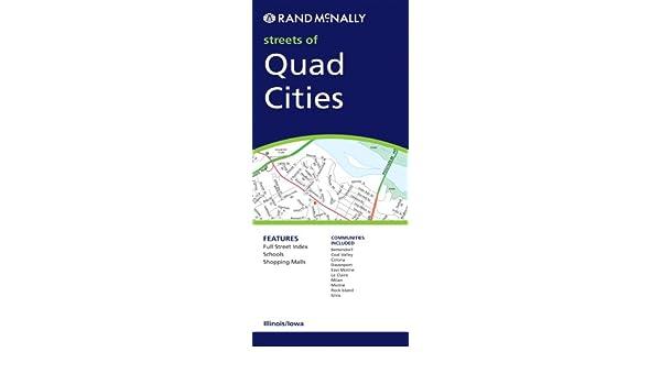 Rand Mcnally Streets Of Quad Cities Illinois Iowa Rand Mcnally