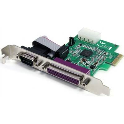 StarTech IO Card PEX1S1P952 1S1P Native PCI Express Parallel Serial Combo Card 16950 UART by StarTech