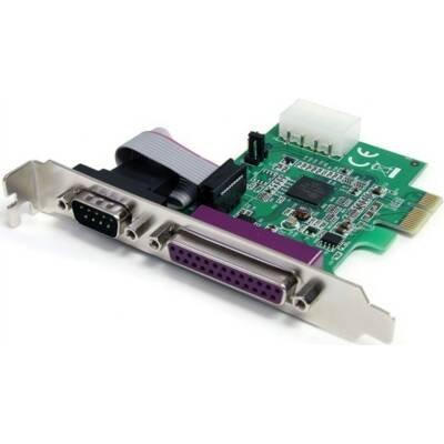 StarTech IO Card PEX1S1P952 1S1P Native PCI Express Parallel Serial Combo Card 16950 UART