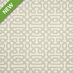 Sunbrella Indoor / Outdoor Upholstery Fabric By The Yard ~ Fretwork Pewter