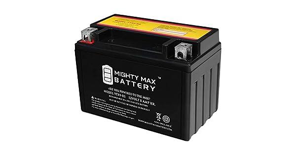 Amazon.com: Mighty Max Batería YTX9-BS Batería para Yamaha ...