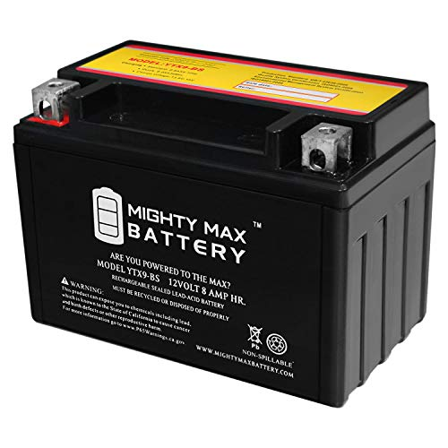 Mighty Max Battery YTX9-BS Battery Replacement for 2003-10 Suzuki AN400/S Burgman Battery Brand Product