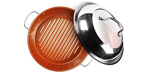 NuWave Stainless Steel Grill Pan, 11'', Silver