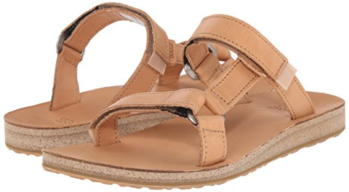Brun Original Teva Slide Sandals Leather White Marron Woman Universal 1qHqxv8