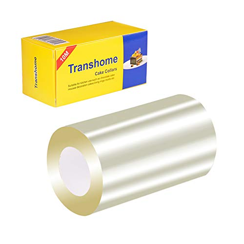 Transhome Mousse Cake Collar3.1 x 394inch,Transparent Cake Rolls for Baking or Decoration (1 Roll)