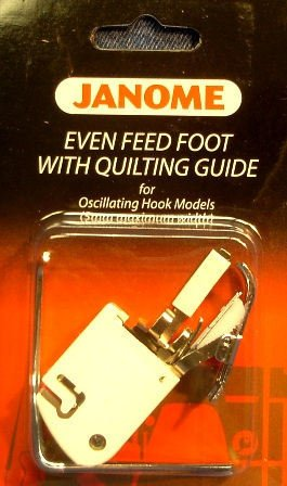 Janome Even Feed Foot with Quilting Guide Oscillating Hook Models for Low-Shank Sewing Machines by Janome