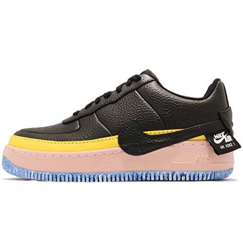 reputable site e49c6 4fe6e Nike Women s WMNS Air Force 1 Jester XX SE, Black Sonic Yellow, 10