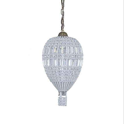 Retro Chandelier, Creative Personality K9 Crystal Pendant Lamp With 304 Stainless Steel, Living Room Bedroom Restaurant Hot Air Balloon Shape Decorative Ceiling Lights E27 Without Light Source -