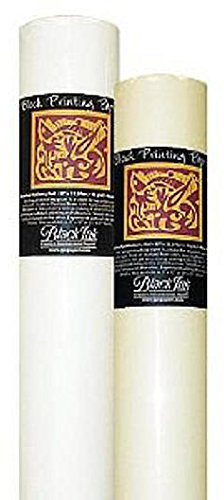 Black Ink Thai Mulberry Block Printing Paper Rolls (Unbleached White) 1 pcs sku# 1832839MA