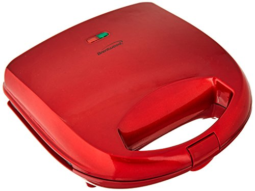 Brentwood  TS-240R  Non-Stick  Compact  Dual  Sandwich  Maker,  Red