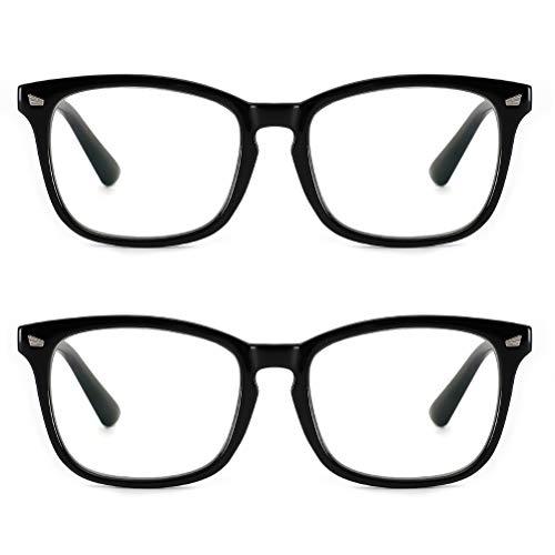 Cyxus Blue Light Blocking Computer Glasses Retro Square Clear Lens Eyeglasses Frame