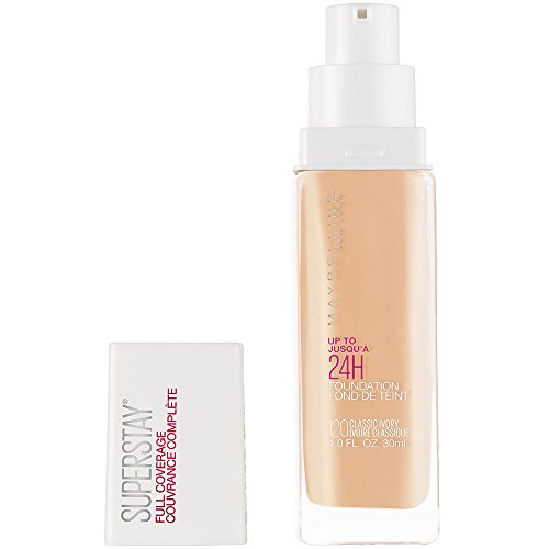 Maybelline Super Stay Full Coverage Liquid Foundation Makeup, Classic Ivory, 1 fl. oz.