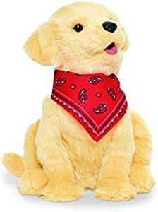 JOY FOR ALL - Golden Pup with Red Bandanna - Interactive Companion Pets - Realistic & Lifelike