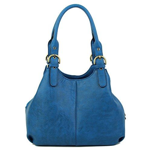 real Craze azul mujer al hombro London para Bolso FqaFO0