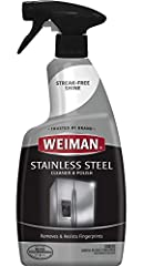 Give your appliances the showroom treatment with the convenient Weiman Stainless Steel Cleaner & Polish. A cleaning spray designed with a polish that protects and resist fingerprints, watermarks & grease; while also repelling dust and...
