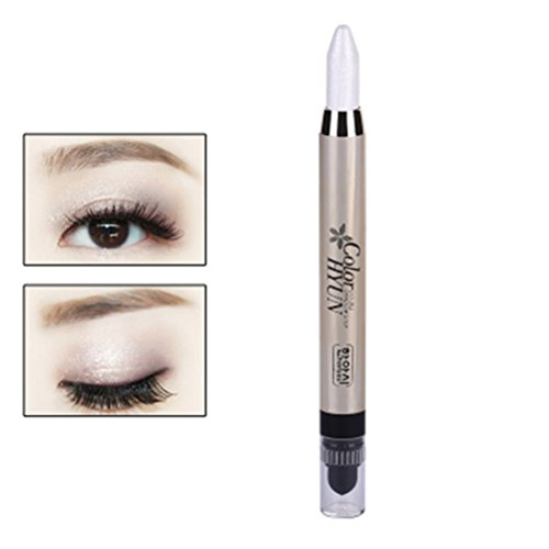 Cream Eyeliner Eye shadow Pencil Lying Silkworm Big Smokey Eyes Shimmer Makeup Glitter Eye Liner Pen (Pearl white)