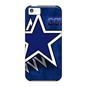 Anti-Scratch Hard Cell-phone Cases For Iphone 5c With Allow Personal Design Lifelike Dallas Cowboys Pictures CharlesPoirier