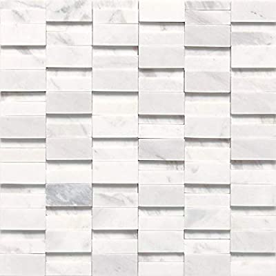 Dal-Tile M3132RANDMS1P Contempo White HIGH//Low Polished /& HONED Stone A LA MOD Tile 3 x 8
