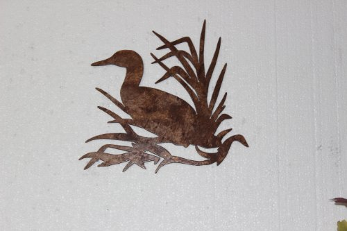 Say It All On The Wall Duck in Reeds Metal Wall Art Country Rustic Hunting Home (Elk Metal Art)