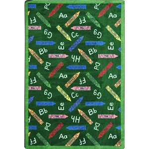 Educational Crayons Kids Rug Rug Size: 5'4