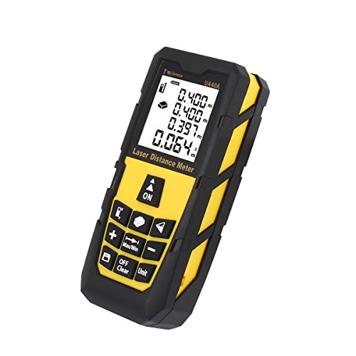 Tool Mini Laser (DMiotech Laser Distance Meter 131ft 40m Mini Handheld Digital Laser Distance Measure Rangefinder Measurer Tape with LCD Backlight Yellow)