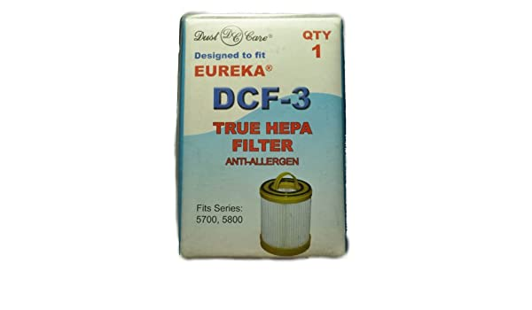 Amazon.com - Eureka Hepa Spool Filter Fits: Lite Speed Upright 5700, 5740 5800 Series Model DCF-3 - Household Vacuum Filters Upright
