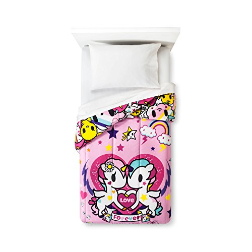 Neonstar by Tokidoki I Love Unicorns 4pc Bedding Set Comforter + Sheets (Twin Size) by Jay Franco