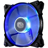"Cooler Master JetFlo Fan Blue ""R4-JFDP-20PB-R1, PWM 120mm, Blue LED, 2000RPM, POM Bearing"""
