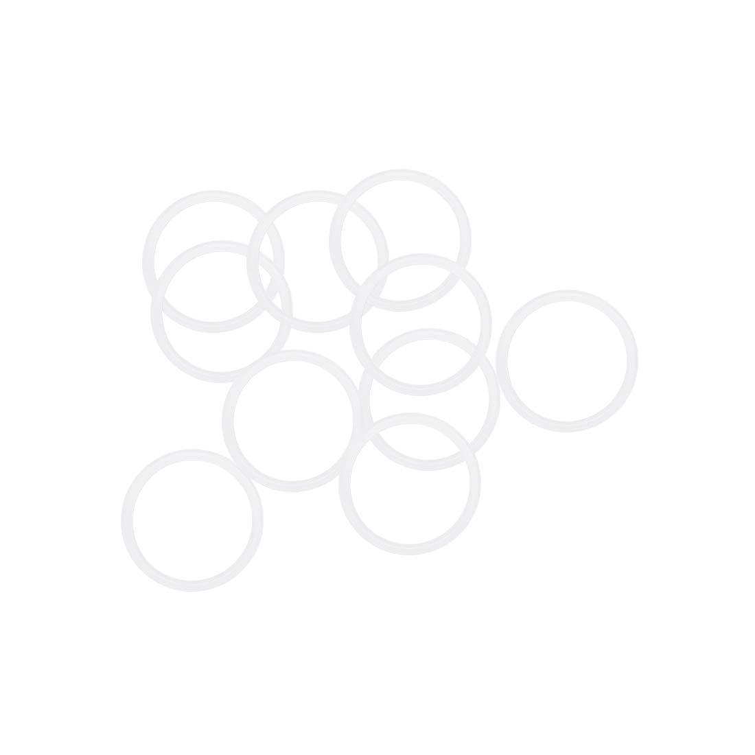 sourcing map 10stk 1,5mm Breite Dichtung Wei/ß 16mm Innendurchm Silikon O-Ringe 19mm Au/ßendurchm