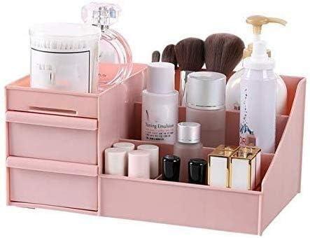 XWYSSH主催 引き出しのための化粧品収納ボックスのストレージボックス XWYSSH (色 : ピンク, サイズ : Large)