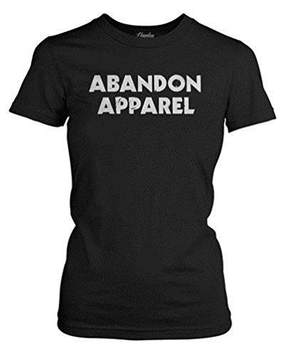 Abandon Apparel Women's Distressed Logo T-Shirt 3X-Large Black