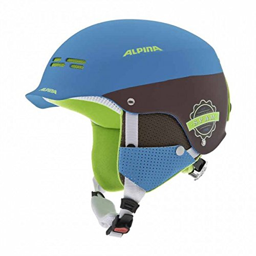 Alpina Erwachsene Skihelm Spam Cap, Blue-Brown Matt, 58-61 cm, 9033383