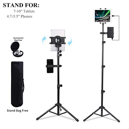 - Portable Universal Floor Tablet Tripod Mount Stand Bracket for 7 to 10 inch Tablets with 4.7