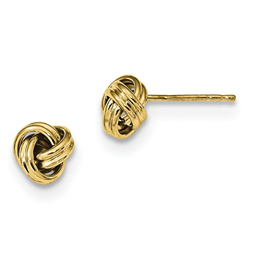 ICE CARATS 10k Yellow Gold Love Knot Post Stud Ball Button Earrings Fine Jewelry Gift Set For Women Heart by ICE CARATS (Image #1)